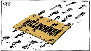 Doormat cartoon